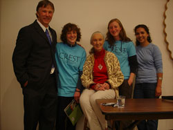CREST staff with Jane Goodall