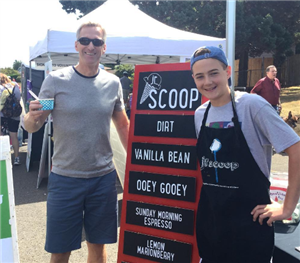 Wood Middle School students engage with the community through Jr. Scoop Ice Cream Company.