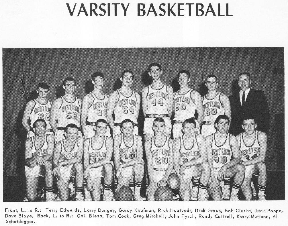 1964 varsity basketballl team