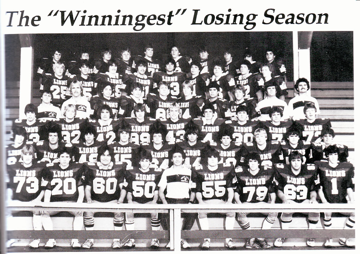 "1983 the ""winningest"" losing season"