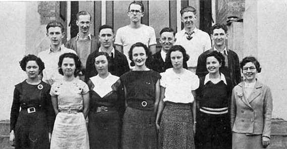 1934 Senior Play cast