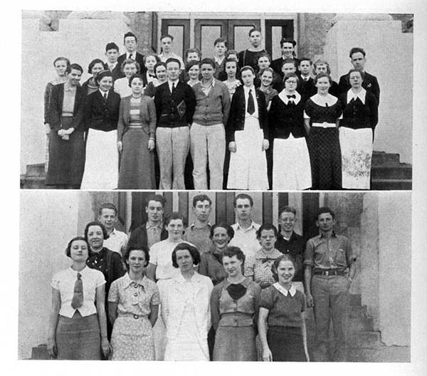 1936 Latin and student body play