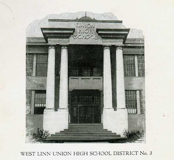 1928 view of entrance of WLHS