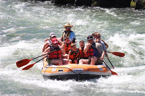 Me in the red cap! My first time whitewater rafting on the Deschutes River!