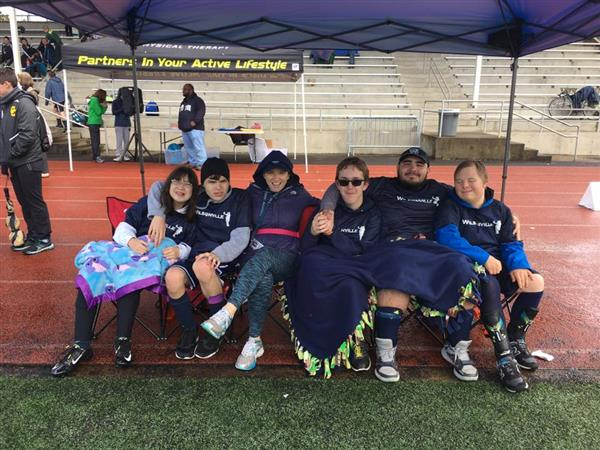 Unified Soccer during the tournament at WVHS Spring 2017
