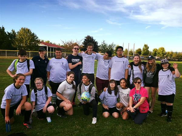 Unified Soccer team at a game in Forest Grove, Oregon on October 4, 2017