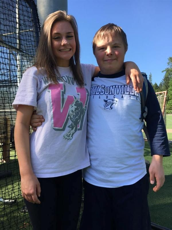 Sam and Sully at Unified Soccer practice May 2017