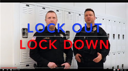 Officers Jeff Halverson and Jason Dolan explain the differences between a lockout and lockdown.
