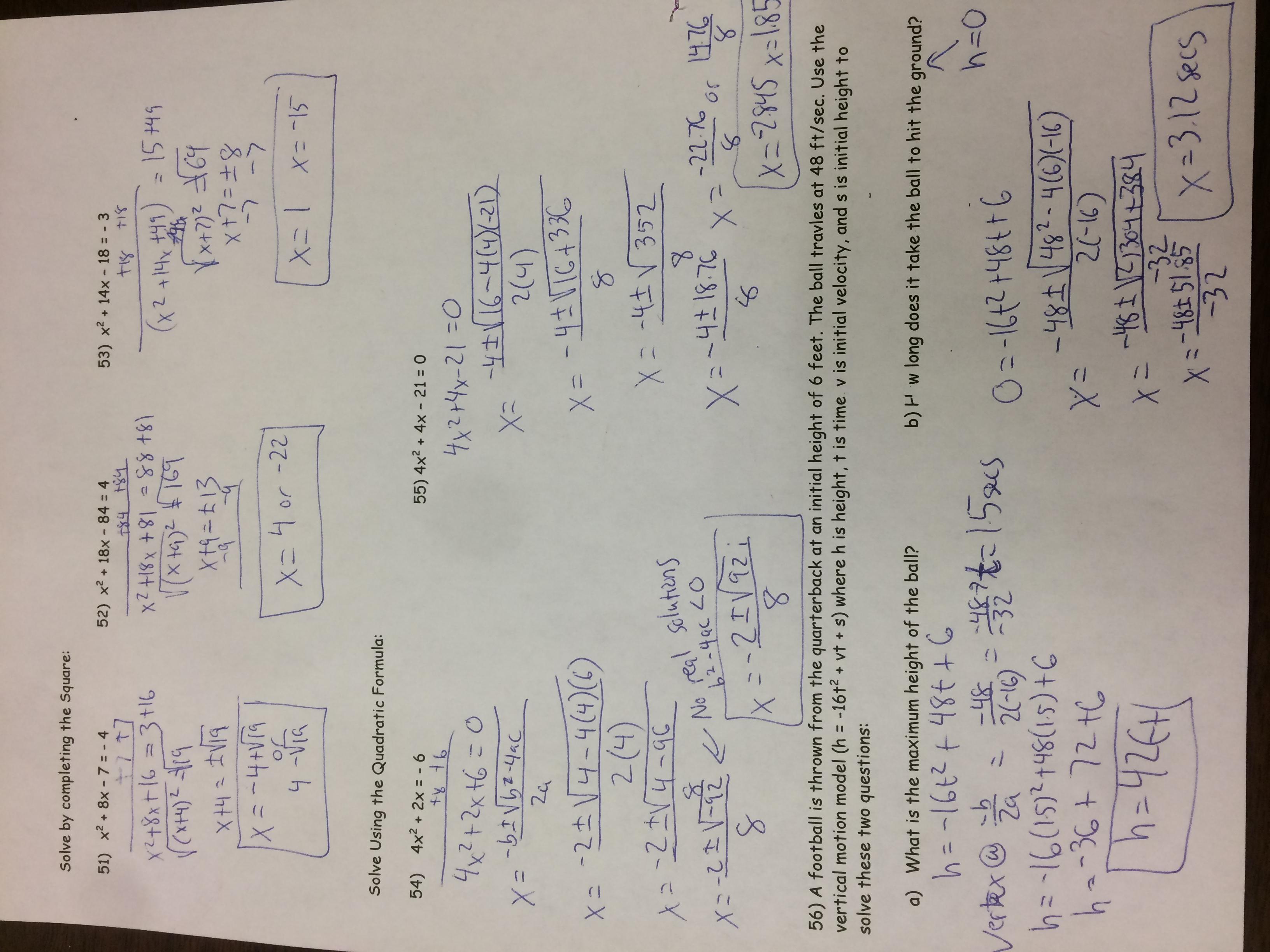Ewbank, Kenny / Advanced Algebra Calendar