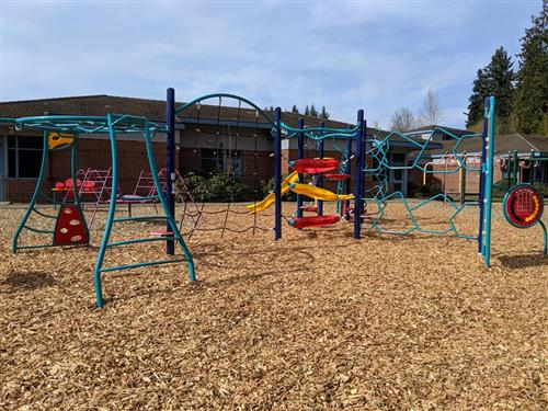 Boeckman Creek Primary received new playground equipment over spring break.