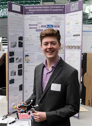 Wilsonville High's Nathan Tidball won first place in the Chemistry category.