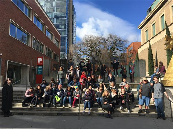 Students at Portland Art Museum
