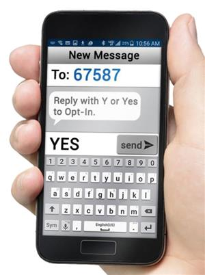 Text YES to 67587 to join SchoolMessenger SMS Service