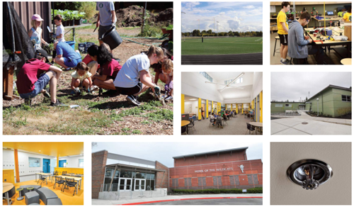 District-wide improvements include a variety of upgrades across district schools, including classroom additions and turf.