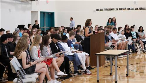Meridian Creek Middle School eighth-graders were recognized on Wednesday, June 13.