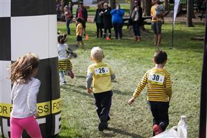 Bolton Primary students run during the Sept. 27 fun run.