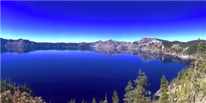 Boones Ferry fourth-graders brought in photos they had taken themselves for the project, like this picture of Crater Lake.