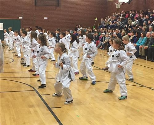 Bolton third-graders demonstrated their skills during their Taekwondo graduation on Monday, Nov. 13.