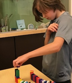A Bolton Primary student participates in hands-on learning.