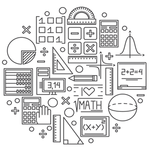 Collage of Math Line Art