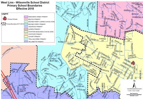 The boundaries of Sunset and Trillium Creek will be adjusted starting in the 2018-19 school year.